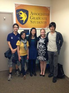 With my colleagues, the AGS International Students Committee at UC Irvine (2013).