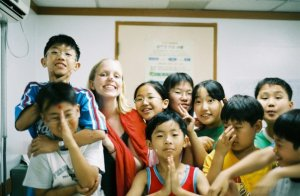 My first job teaching, in Korea.