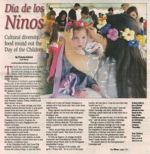 2015_05_01 Kerrville Daily Times1 (Dia del Nino)