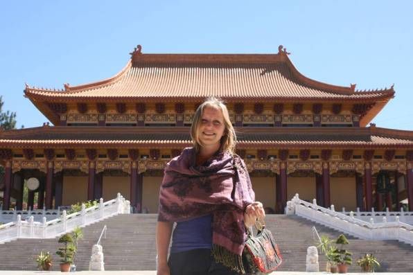 Sonja in Taiwanese temple California