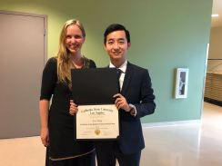 """With Chinese exchange student """"Leo"""" at the end of his year studying at Cal State LA"""