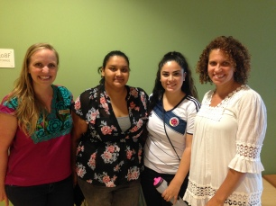 Co-presenting with students who had returned from studying abroad in Colombia