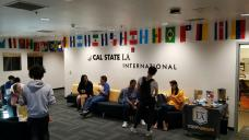 International Coffee Hour with international students at Cal State LA