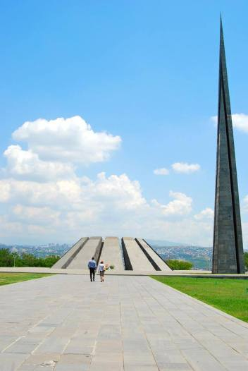 Tsitsernakaberd, the Armenian Genocide memorial at Yerevan, Armenia.