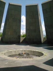 Tsitsernakaberd, the Armenian Genocide memorial at Yerevan, Armenia.