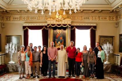 Group photo inside the St. George Armenian Church, Istanbul.