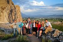 Group photo at the Van fortress in Van, Turkey.